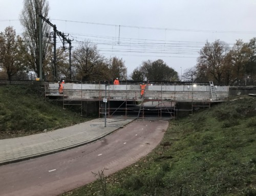 Dutch Railway Marketleader opts for sustainable retaining walls made of Self-healing Concrete